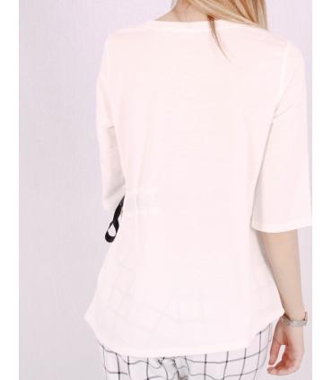 Top alb cu funda neagra in lateral Raspberry - 3
