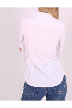 Camasa alba cu maneca lunga si dungi albastre Raspberry - 5