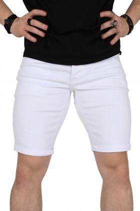 Blugi scurti albi, simpli Kenzarro - 1