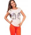 Tricou imprimat cu elefanti colorati