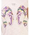 Tricou imprimat cu elefanti colorati  - 2