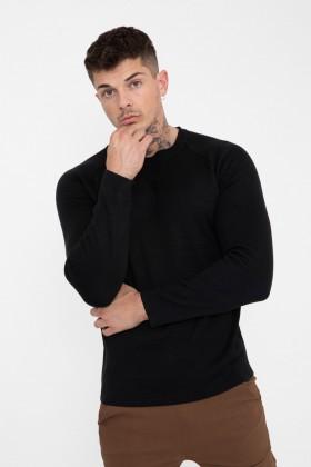 Bluza neagra simpla Frilivin - 1