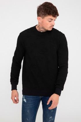 Bluza neagra cu randunici Frilivin - 1