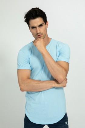 Tricou albastru deschis, clasic Frilivin - 1