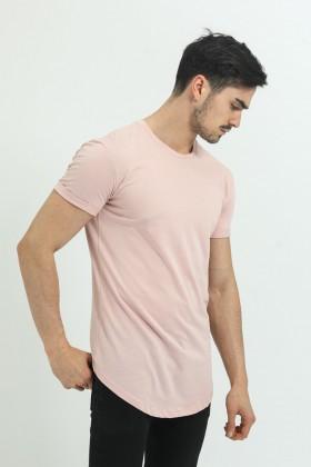 Tricou roz deschis clasic Frilivin - 1