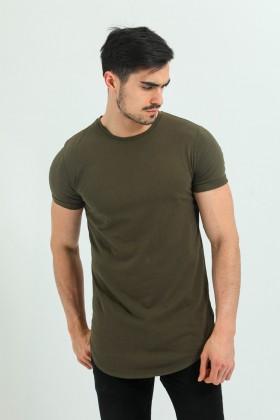 Tricou verde kaki clasic Frilivin - 1