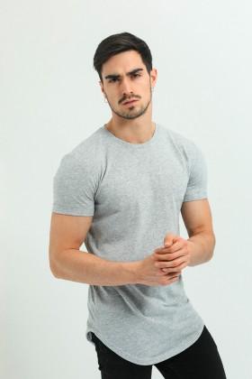 Tricou gri clasic  - 2