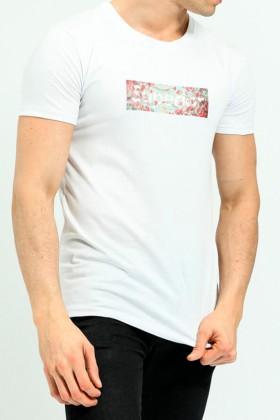 "Tricou alb cu imprimeu si mesaj ""Superior"" Frilivin - 1"