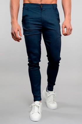 Pantaloni chino albastri Frilivin - 1