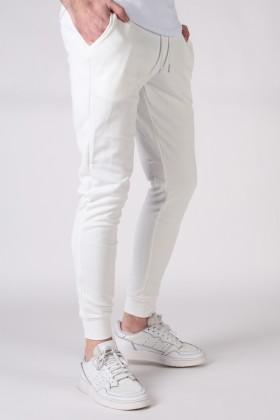 Pantaloni de trening albi cu snur in talie Frilivin - 1