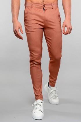 Pantaloni chino maro deschis Frilivin - 1