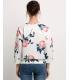 Bluza alba cu trandafiri  - 5