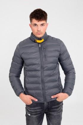 Jacheta casual gri din fas cu gulerul inalt Frilivin - 1
