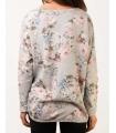 Bluza gri cu imprimeu floral