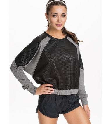 Bluza sport gri cu negru  - 1