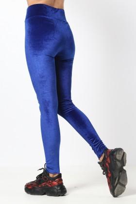Colanti albastri din catifea  - 2