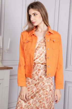 Jacheta portocalie din denim SARAH JOHN - 1