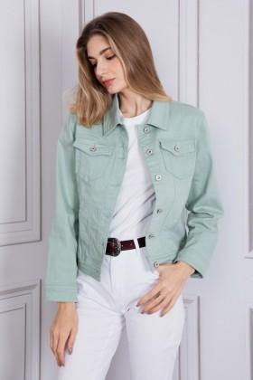 Jacheta verde deschis din denim SARAH JOHN - 1