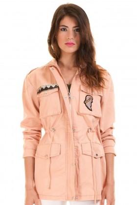 Jacheta lunga roz de primavara  - 1