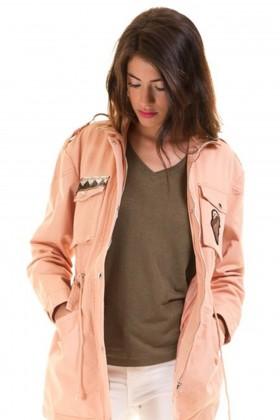 Jacheta lunga roz de primavara  - 2