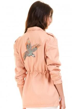 Jacheta lunga roz de primavara  - 3